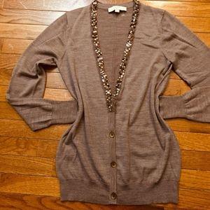 LOFT, sweater Wool, Elegant.Lightweight brown